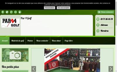 Site internet de Par 4 Golf