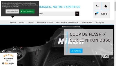 Capture d'écran du site de Prophot