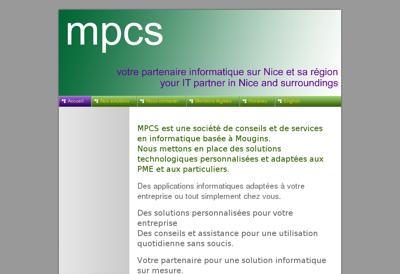 Capture d'écran du site de Mathieu Menuiserie