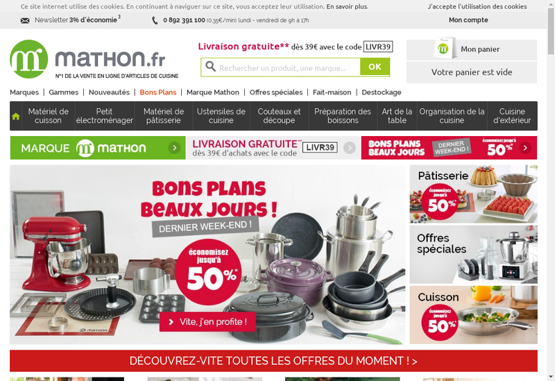 Capture d'écran du site de Mathon Developpement