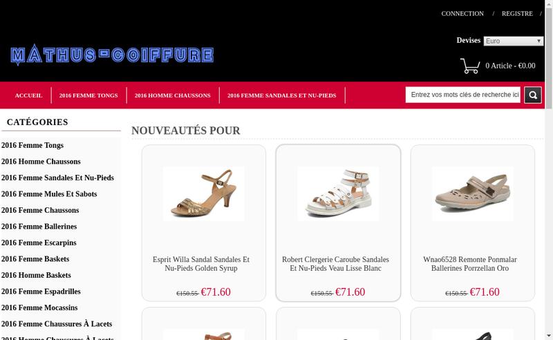 Capture d'écran du site de Jean-Luc Mathus