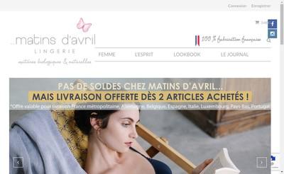 Site internet de Matins d'Avril