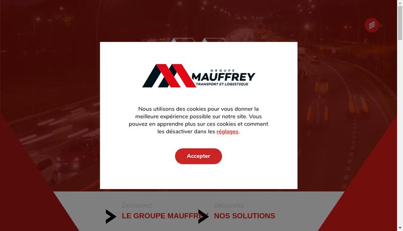 Capture d'écran du site de Mauffrey Rhone Alpes