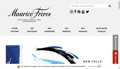 Site internet de Opticiens Maurice Freres