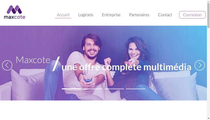 Capture d'écran du site de Maxcote