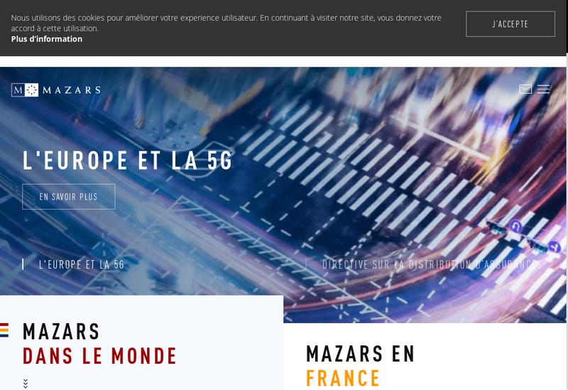 Capture d'écran du site de Mazars Rodez