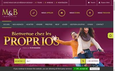 Site internet de Mb Immobilier