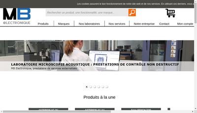 Site internet de MB Electronique