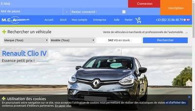 Site internet de Mc Automobiles