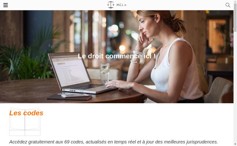 Capture d'écran du site de Mon Code Juridique
