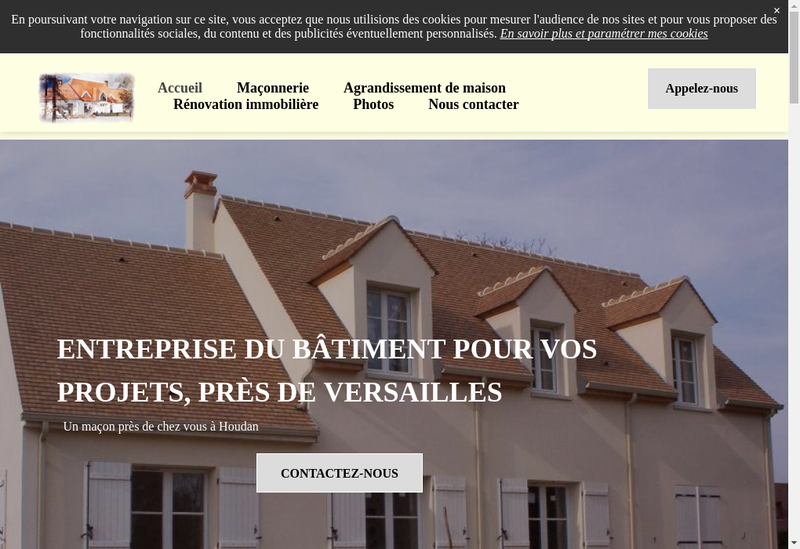 Capture d'écran du site de Mde Maisons d'Epoque