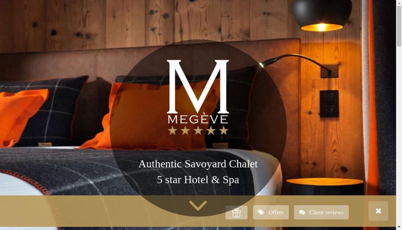 Capture d'écran du site de Le M de Megeve