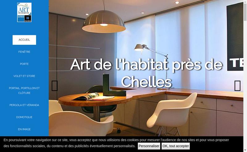 Capture d'écran du site de ART Habitat