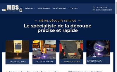 Site internet de Metal Decoupe Service