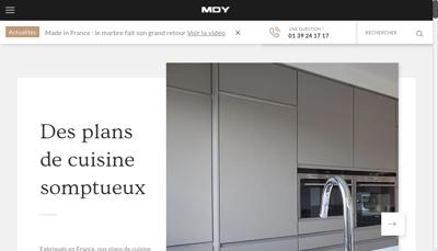 Capture d'écran du site de MDY