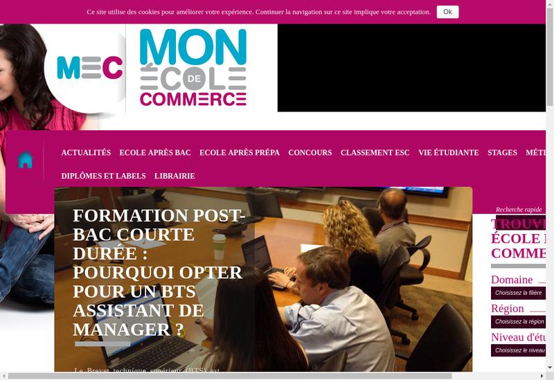 Capture d'écran du site de Vu du Web