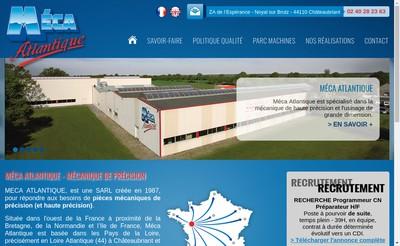Site internet de Meca Atlantique