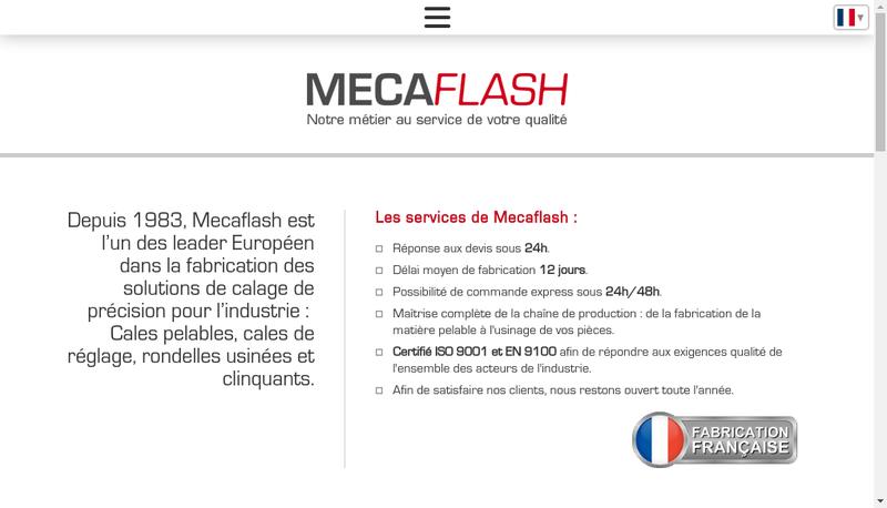 Capture d'écran du site de Mecaflash