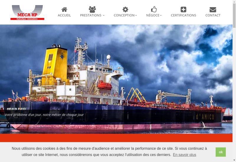 Capture d'écran du site de Meca Hp