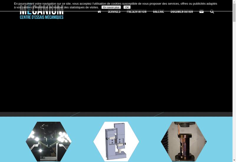 Capture d'écran du site de Mecanium