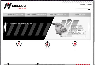 Site internet de Groupe Angelo Meccoli
