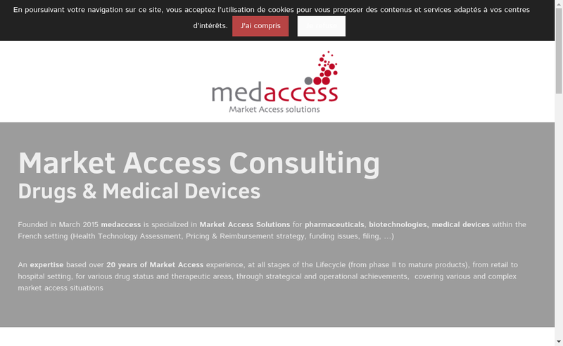 Capture d'écran du site de Medaccess