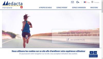 Site internet de Medacta France