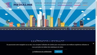Site internet de Media Line