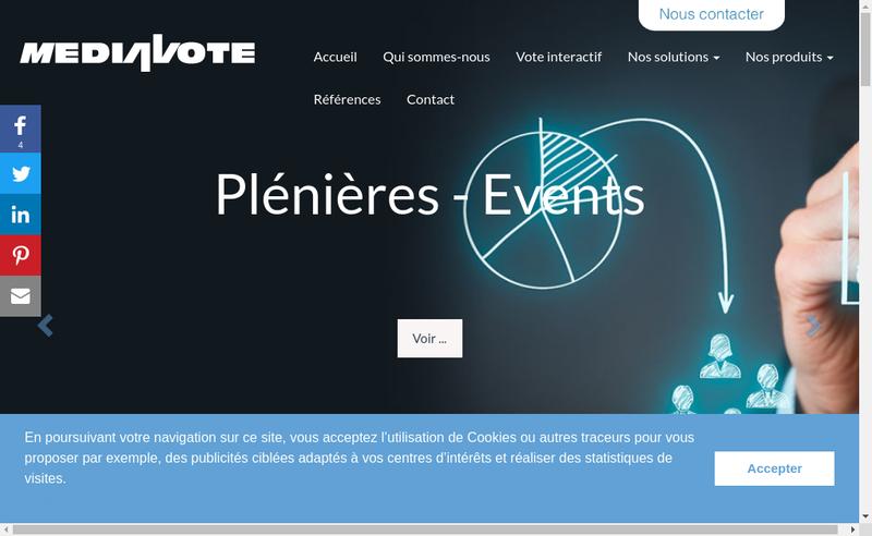 Capture d'écran du site de Mediavote
