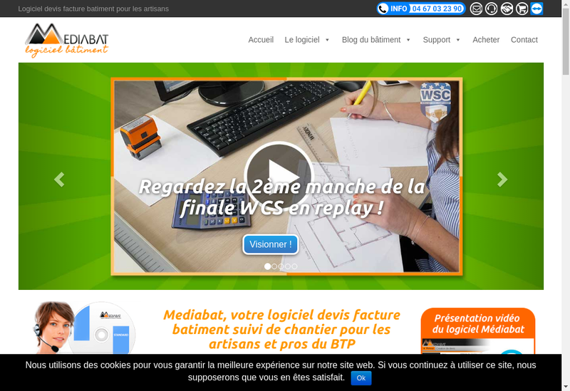 Capture d'écran du site de Mediabat