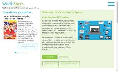 Site internet de Mediaspecs