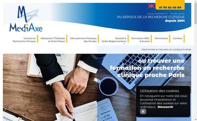 Site internet de Mediaxe Formation