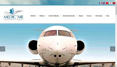 Site internet de Medic' Air International