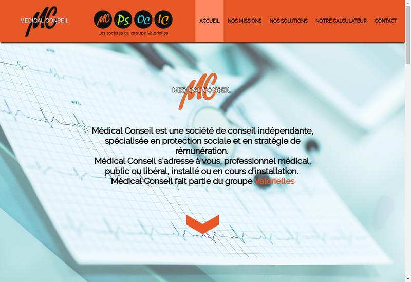 Capture d'écran du site de Medical Conseil