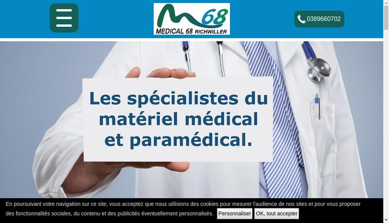 Capture d'écran du site de Medical 68