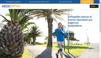 Site internet de Medicortho