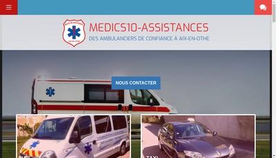 Site internet de Medics10-Assistances