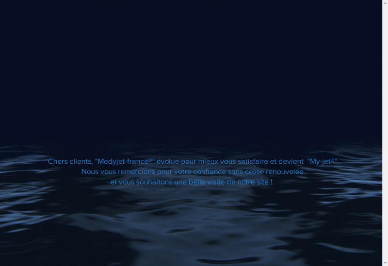 Capture d'écran du site de Medyjet France