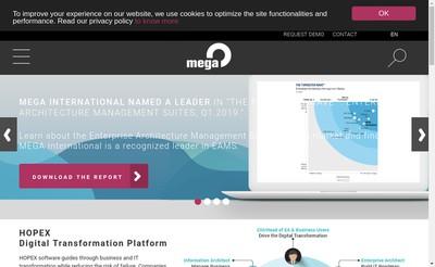 Site internet de Mega International
