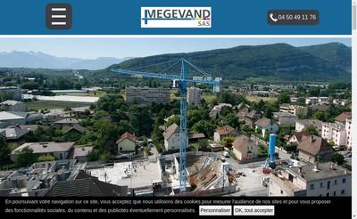 Site internet de Megevand Sas