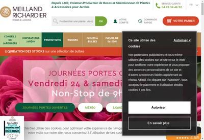 Site internet de Meilland Richardier - Roses Nouvelles