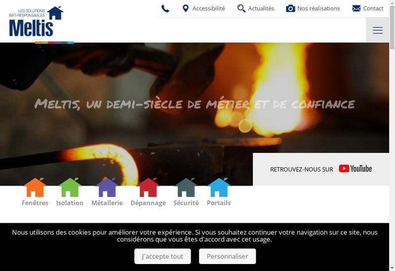 Capture d'écran du site de Millet - Tours Fenetres