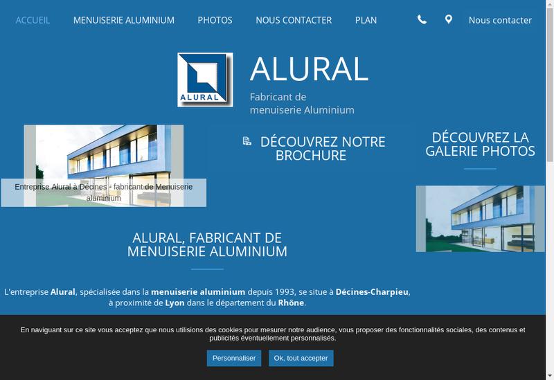 Capture d'écran du site de Alural