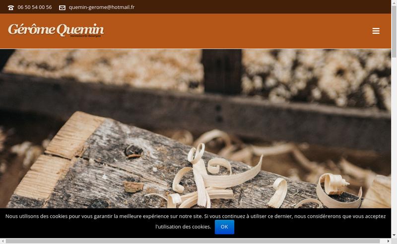 Capture d'écran du site de Menuiserie Quemin