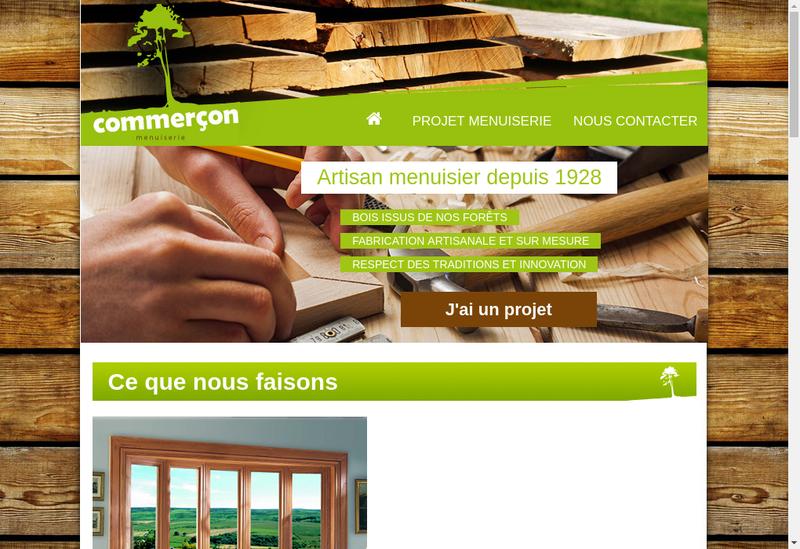 Capture d'écran du site de SARL Menuiserie Commercon