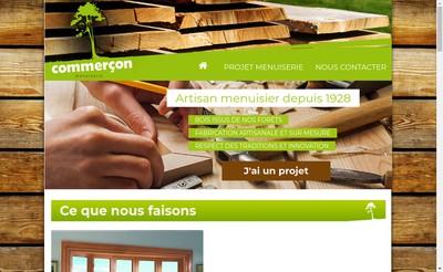 Site internet de SARL Menuiserie Commercon