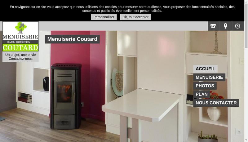 Capture d'écran du site de Gougeon
