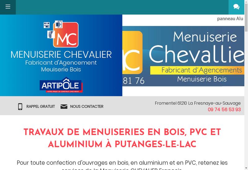 Capture d'écran du site de Francois Chevalier