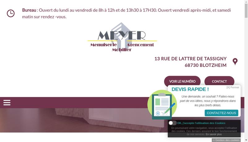 Capture d'écran du site de Meyer SARL