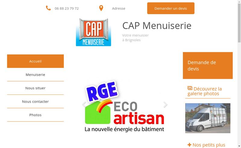 Capture d'écran du site de Creativ Agencement Provence